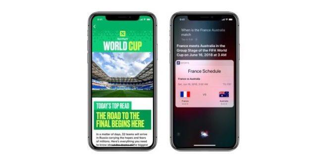 أبل تطلق تحديثات حتى تتابع نتائج وأخبار كأس العالم 2018