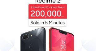 Oppo نجحت في بيع 200 آلف وحدة من الهاتف RealMe 2 في غضون 5 دقائق فقط