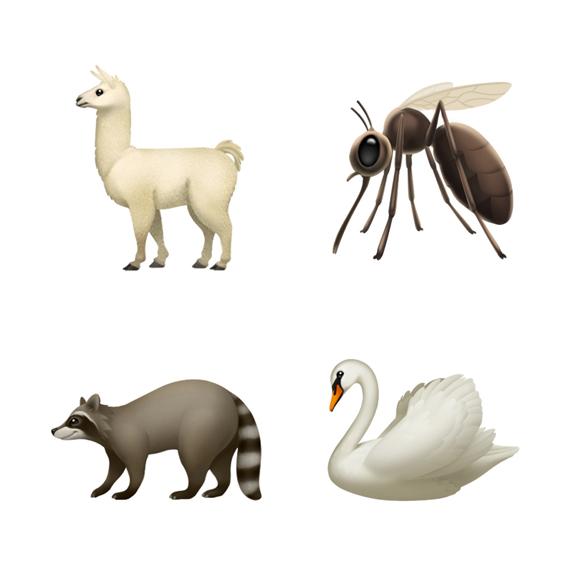 """ووفقا لما نشره موقع fonearena الهندى، تتضمن الرموز التعبيرية الجديدة رموزًا لكعكة، وتميمة الخرزة الزرقاء، والأمتعة، والبوصلة، وحذاء التنزه، وحيوان اللاما، والبعوض، والبجعة، والراكون، والكب كيك وغيرها الكثير من الرموز التعبيرية المختلفة الأخرى.  ios-121-emoji-update-llama-mosquito-swan-raccoon-10012018_carousel.jpg.large وقالت شركة أبل فى مدونتها:"""" تم إنشاء هذه الرموز التعبيرية الجديدة استنادًا إلى الأشكال المعتمدة فى Unicode 11.0 وتعمل Apple مع Unicode Consortium لإضافة المزيد من الرموز التعبيرية التى تحمل موضوع الإعاقة إلى لوحة المفاتيح لـ Unicode 12.0، المقرر إصدارها فى عام 2019""""، وتتوفر الآلاف من الرموز التعبيرية حاليًا على أجهزة iOS وwatchOS وmacOS، بما فى ذلك الوجوه المبتسمة العاطفية والشخصيات المحايدة بين الجنسين وخيارات الملابس المختلفة وأنواع الطعام والحيوانات والمخلوقات الأسطورية والمزيد.  الشخصيات الجديدة سوف تشمل أيضا الرموز التعبيرية ذات الشعر الأحمر، والشعر الرمادى، والشعر المجعد، والرموز التعبيرية الجديدة للناس الصلعاء، وجوه مبتسمة أكثر عاطفية والرموز التعبيرية التى تمثل الحيوانات والرياضة والغذاء."""