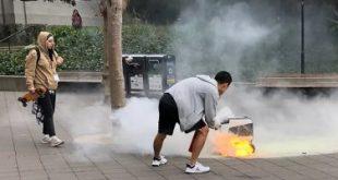 اشتعال النيران فى روبوت مخصص لتوصيل الطعام فى كاليفورنيا.. فيديو