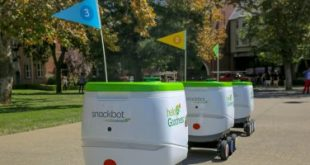 snackbots روبوت جديد يقدم الوجبات الخفيفة لطلاب الجامعة