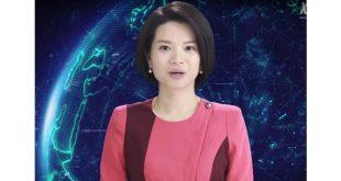 """مذيعة أخبار """"روبوت"""" عبر تقنية الذكاء الاصطناعي"""