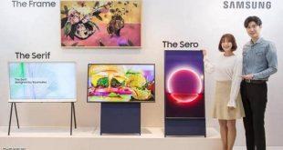 """سامسونغ تكشف عن """"التلفزيون الدوّار"""".. السعر وموعد الصدور"""