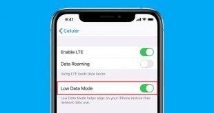هكذا تقلل استهلاك البيانات بنظام iOS 13