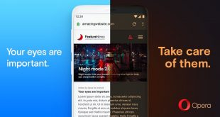 النسخة الأحدث من المتصفح Opera لمنصة الأندرويد تقوم بتحويل أي صفحة ويب للوضع الليلي