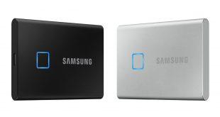 سامسونج تعلن عن قرص تخزين SSD خارجي مع حساس بصمة