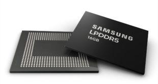 سامسونج تبدأ عملية الإنتاج الضخم لرقاقة الذاكرة العشوائية Samsung 16GB LPDDR5