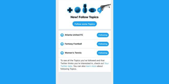 تويتر تطلق متصفح المواضيع الجديد باللغة العربية