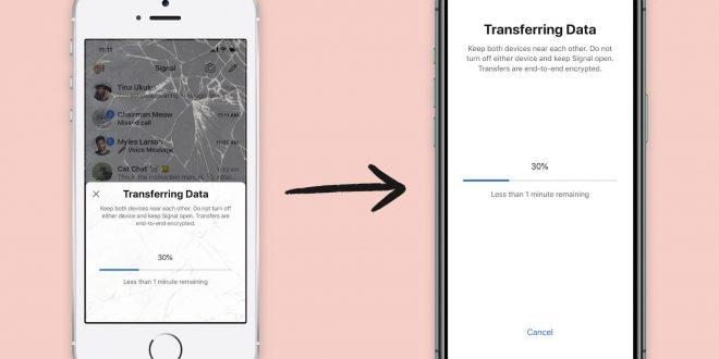 كيف يمكنك نقل البيانات من تطبيق Signal عند التبديل لهاتف آيفون جديد؟