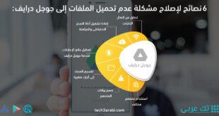 6 نصائح لإصلاح مشكلة عدم تحميل الملفات إلى جوجل درايف