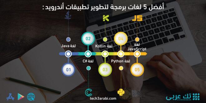أفضل 5 لغات برمجة لتطوير تطبيقات أندرويد