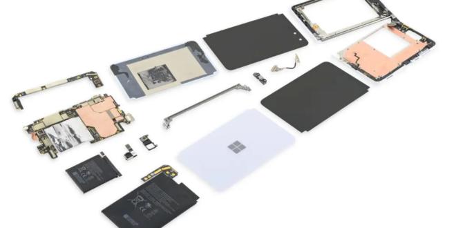 Surface Duo من مايكروسوفت يصعب إصلاحه