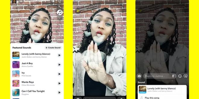 سناب شات توفّر ميزة إضافة الموسيقى ضمن القصة لجميع مستخدمي iOS