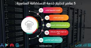 5 عناصر لاختيار خدمة الاستضافة المناسبة