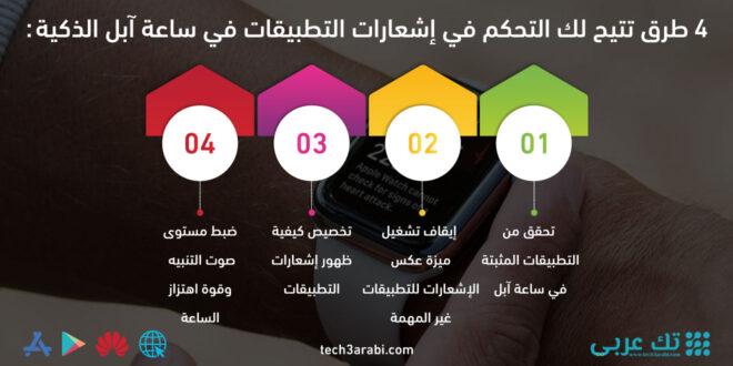 4 طرق تتيح لك التحكم في إشعارات التطبيقات في ساعة آبل الذكية