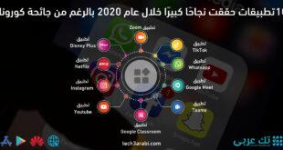 10 تطبيقات حققت نجاحًا كبيرًا خلال عام 2020 بالرغم من جائحة كورونا