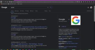 جوجل تختبر الوضع الداكن لبحث سطح المكتب