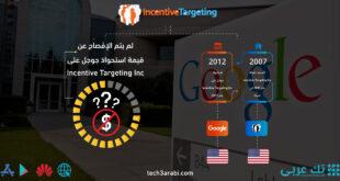 تعرف على صفقة استحواذ جوجل على Incentive Targeting Inc
