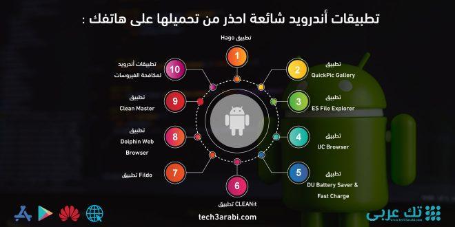 تطبيقات أندرويد شائعة احذر من تحميلها على هاتفك