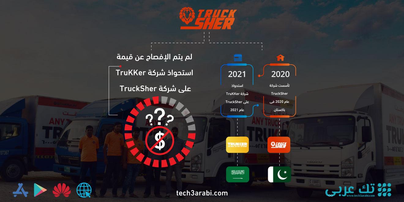 تعرف على صفقة استحواذ شركة TruKKer على شركة TruckSher