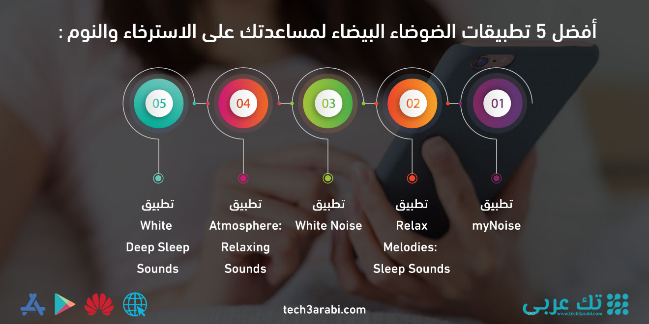 أفضل 5 تطبيقات الضوضاء البيضاء لمساعدتك على الاسترخاء والنوم