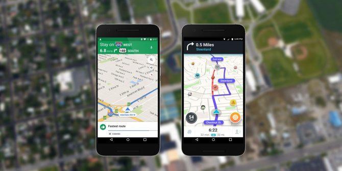 مقارنة بين خرائط جوجل و Waze